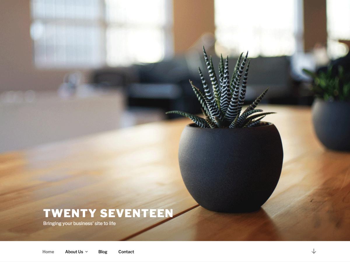 Twenty Seventeen screenshot