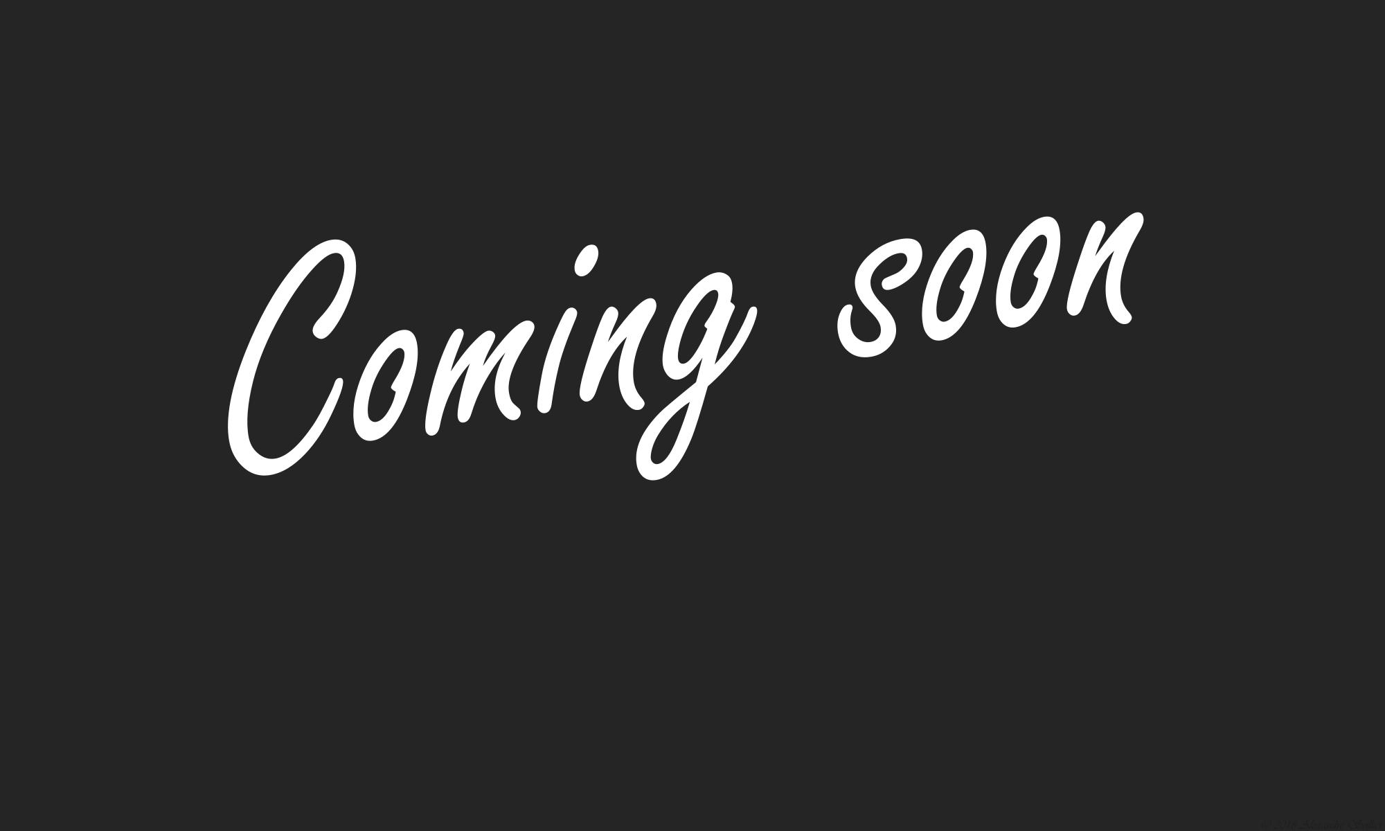 Coming soon on blackboard background